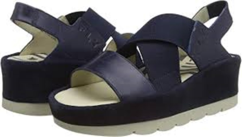 Berwick upon Tweed-Lime Shoe Co-Fly London-Navy-wedge-sandal-summer-elastic straps