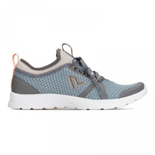 Lime Shoe Co-Berwick upon Tweed-Vionic-Comfort-Recommended-Trainer-Flat-Comfort-Blue-Grey-Lace Up