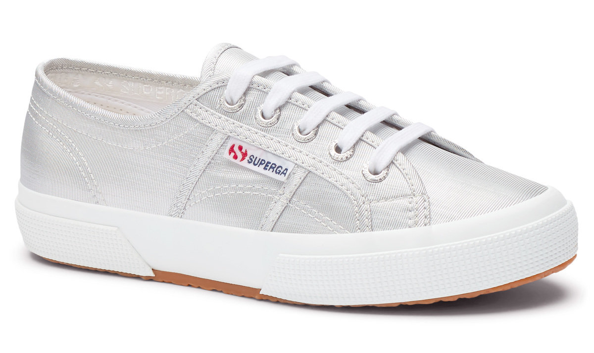Berwick upon Tweed-Lime Shoe Co-Superga-silver-trainers-laces-summer