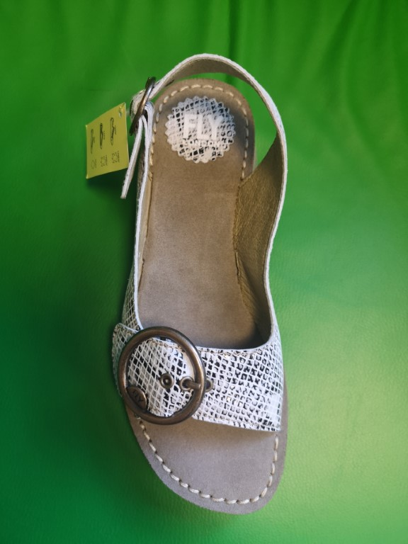 Berwick upon Tweed-Lime Shoe Co-Fly London-Tram2-snake-white-sandal-summer