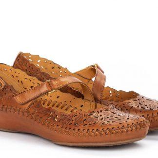 Berwick upon Tweed-Lime Shoe Co-Pikolinos-Tan-Pumps-Sandals-Summer-Velcro