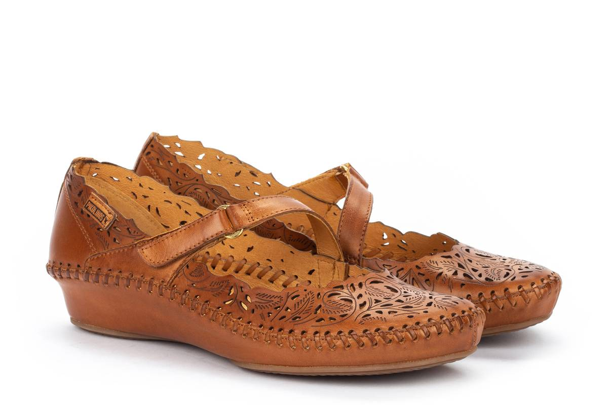 Berwick upon Tweed-Lime Shoe Co-Pikolinos-Tan-Pumps-Sandals-Summer-Velcro