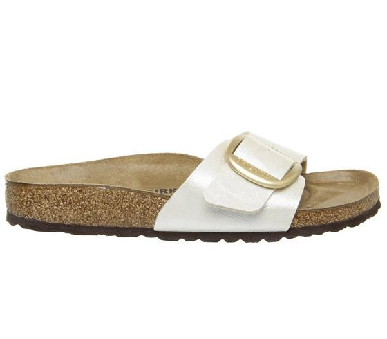 Berwick upon Tweed-Lime Shoe Co-Birkenstock-White Pearl-Big Buckle-summer-sandal