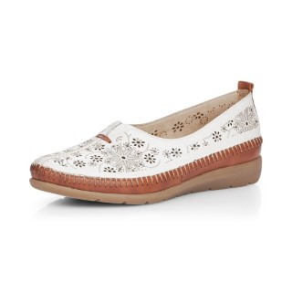Lime Shoe Co-Berwick upon Tweed-Remonte-White-Summer-Shoe-Ladies-Spring-2020-Flat-Comfort