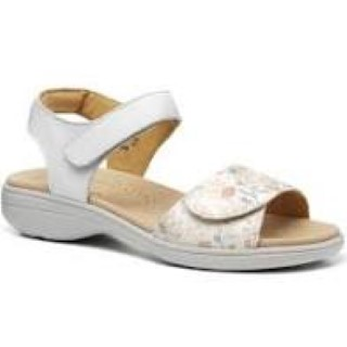 Berwick upon Tweed-Lime Shoe Co-Hotter-Sandal-summer-comfort-Velcro-flower-white-pattern