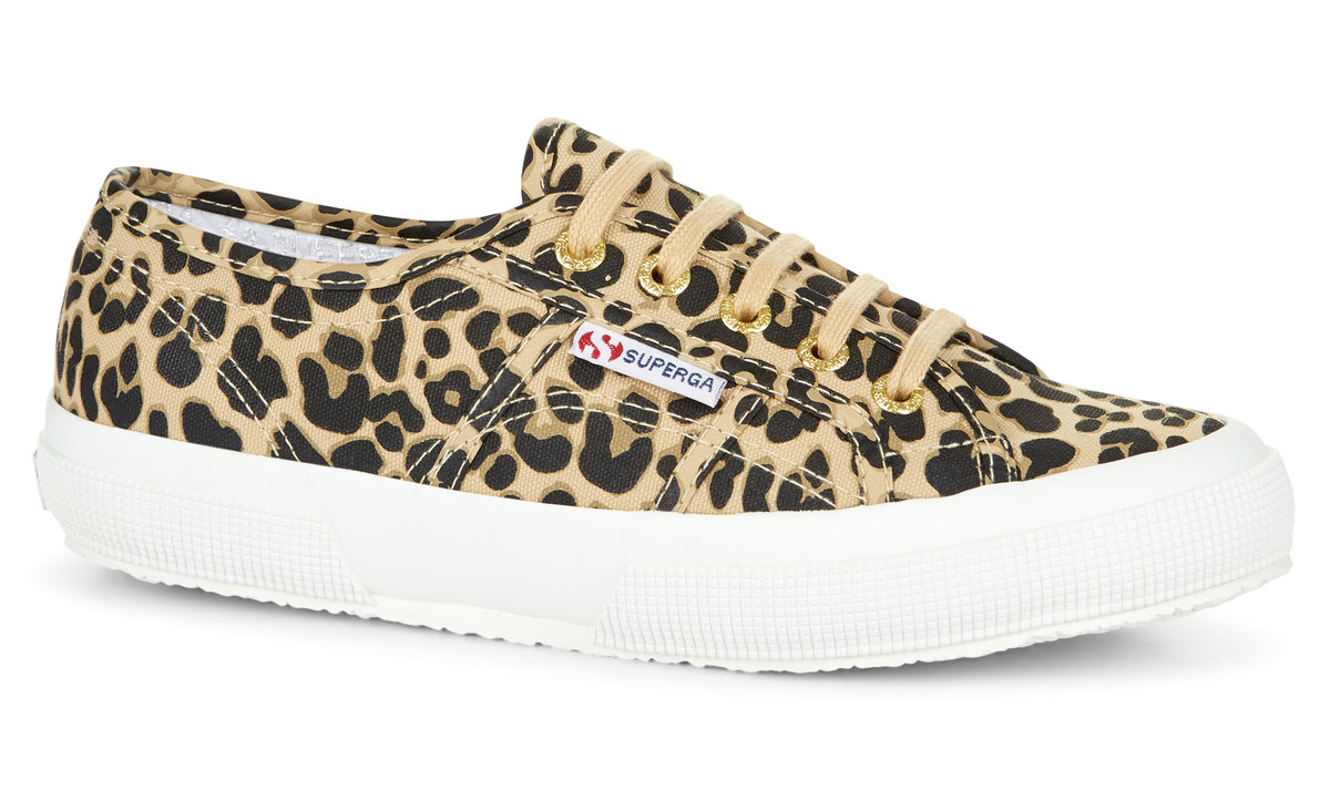 Berwick upon Tweed-Lime Shoe Co-Superga-canvas-summer-trainer-leopard print-laces