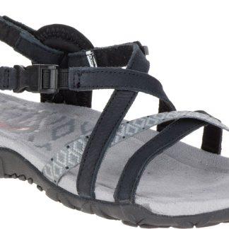 Berwick upon Tweed-Lime Shoe Co-Merrell-Black-Ladies-Sandal-Summer-Comfort