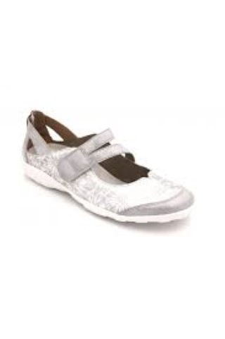 Lime Shoe Co-Berwick upon Tweed-Remonte-Spring-Summer-2020-White-Blue-Flat-Velcro Fastening