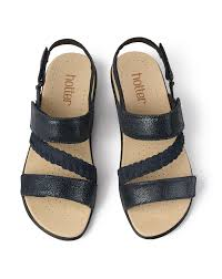 Berwick upon Tweed-Lime Shoe Co-Hotter-Ripple-Navy-Sandals-summer