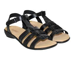 Berwick upon Tweed-Lime Shoe Co-Hotter-Black-Sandal-Summer-Comfort-velcro