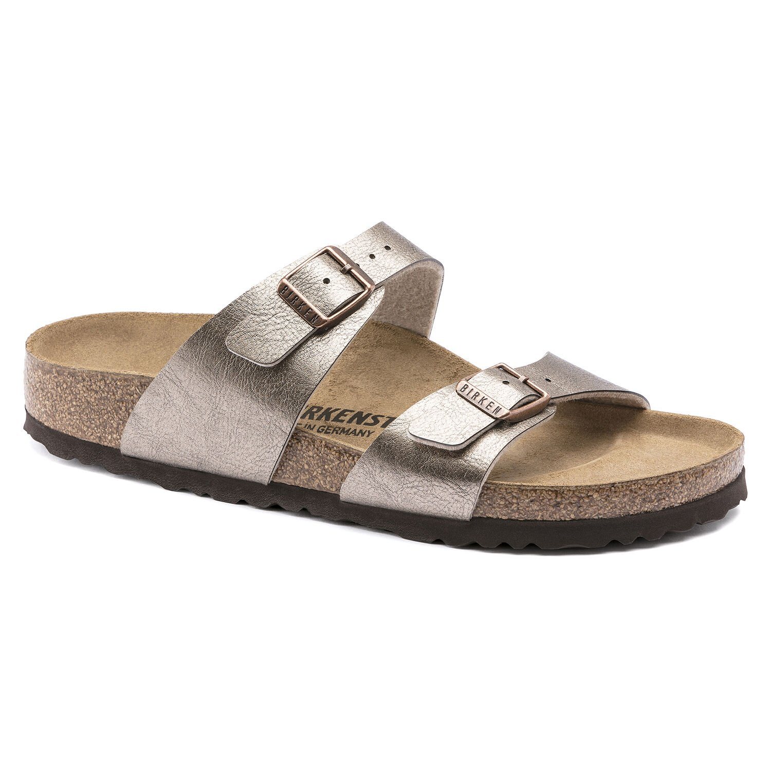 Berwick upon Tweed-Lime Shoe Co-Birkenstock-Sydney-Taupe-Sandal-Double Strap-Buckle-Sandal-Summer