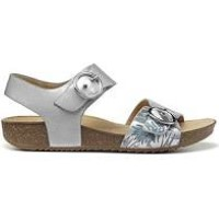 Berwick upon Tweed-Lime Shoe Co-Hotter-Tourist-Sandal-Summer-Platinum-Pattern-Summer-Sandal-Comfort-Buckle