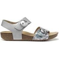 Berwick upon Tweed-Lime Shoe Co-Hotter-Tourist-Sandal-Summer-Platinum-Pattern-Summer-Sandal-Comfort-Buckle