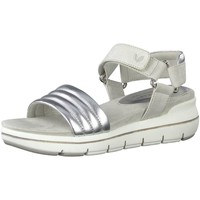Berwick upon Tweed-Lime Shoe Co-Marco Tozzi-Silver-Vegan-Sandal-Summer-Comfy-Velcro