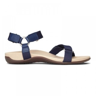 Lime Shoe Co-Berwick upon Tweed-Vionic-Navy-Candice-Flat-Comfort-Spring-Summer-2020