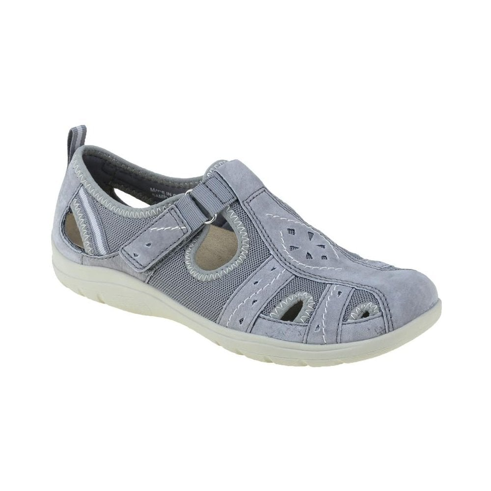 Berwick upon Tweed-Lime Shoe Co-Earth Spirit-Cleveland-Grey-Comfort-velcro-summer-sandal