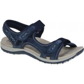 Berwick upon Tweed-Lime Shoe Co-Earth Spirit-Navy Blue-Sandal-summer-comfort-Frisco-velcro