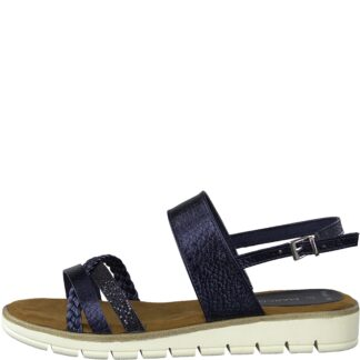 Berwick upon Tweed-Lime Shoe Co-Marco Tozzi-Navy-sandal-comfort-summer