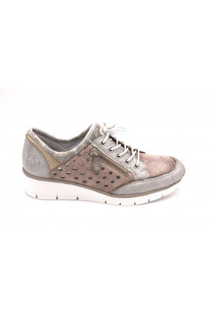 Berwick upon Tweed-Lime Shoe Co-Rieker-Trainer-metallic-laces-side zip-comfort-summer