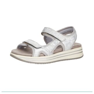 Berwick upon Tweed-Lime Shoe Co-Remonte-Sandal-summer-silver-grey-velcro