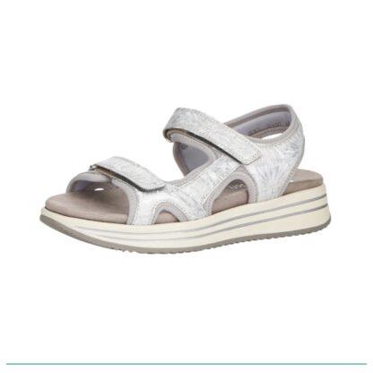 Berwick upon Tweed-Lime Shoe Co-Remonte-Sandal-summer-silver-grey-velcro
