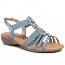 Berwick upon Tweed-Lime Shoe Co-Remonte-Blue-Sandal-Summer-comfort-elastic strap
