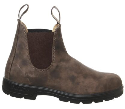 Berwick upon Tweed-Lime Shoe Co-Blundstone-Rustic Brown-Leather-585-Pull on-finger tab