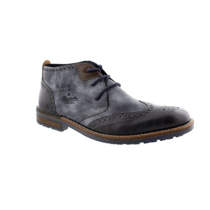 Berwick upon Tweed-Lime Shoe Co-Rieker-Blue-denim-Ankle Boot-Gents-Mens-Laces-comfort