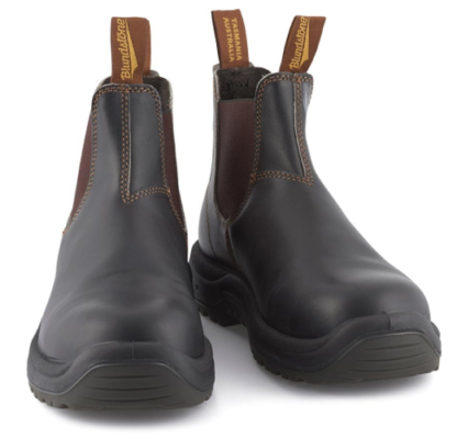 Berwick upon Tweed-Lime Shoe Co-Blundstone-Brown-Stout-Pull on-Work Boots-Steel Toe Caps-Gents-Mens