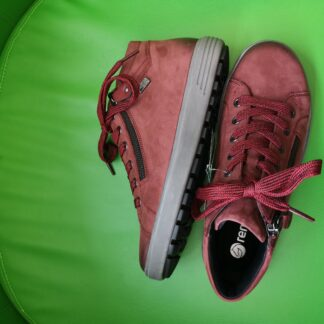 Berwick upon Tweed-Lime Shoe Co-Remonte-Nubuck-leather-Red-laces-side zip-comfort-tex