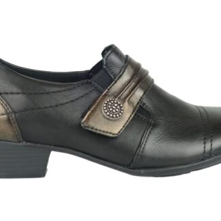 Berwick upon Tweed-Lime Shoe Co-Remonte-Black-combination-trouser shoe-leather-comfort-winter-work