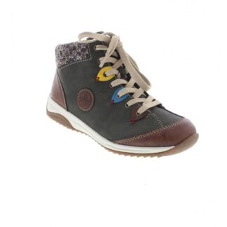 Berwick upon Tweed-Lime Shoe Co-Rieker-Ladies-Ankle Boots-Green-Side Zip-laces-comfort-winter-autumn