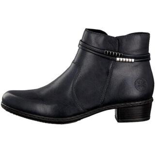 Berwick upon Tweed-Lime Shoe Co-Rieker-Blue-Ankle Boot-Comfort-Block Heel-Side zip-autumn-winter
