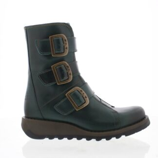 Berwick upon Tweed-Lime Shoe Co-Fly London-SCOP-Biker Boots-Petrol-winter-autumn-comfort-leather