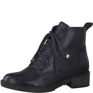 Berwick upon Tweed-Lime Shoe-Tamaris-Ladies-Lace up-Side zip-ankle boot-navy-winter-autumn-comfor