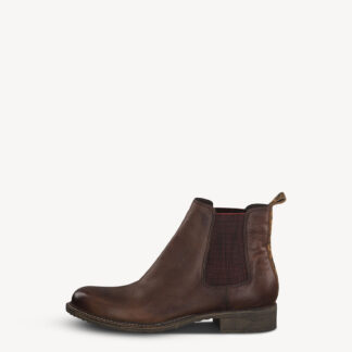 Berwick upon Tweed-Lime Shoe Co-Tamaris-Mahogany-Brown-Chelsea Boot-Leather-Comfort-Autumn-Winter
