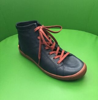 Lime Shoe Co-Berwick upon Tweed-Softino-Isleen-Navy Red Contrast-Soft-Leather-Comfort-Lace Up-Autumn-Winter-2020