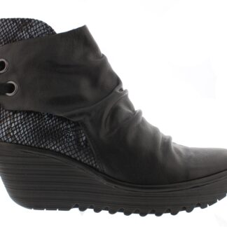 Lime Shoe Co-Berwick upon Tweed-Fly-London-Yama-Black-Grey-Autumn-Winter-2020-Wedge-Lace Up