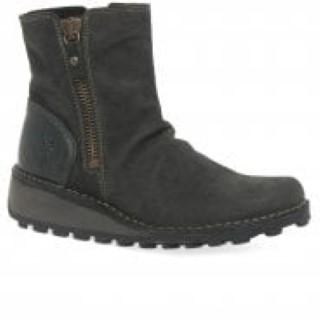 Lime Shoe Co-Berwick upon Tweed-Fly London-Leather-A/W 2020-Wedge Heel-Side Zip-Comfort