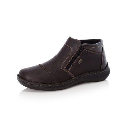 Berwick upon Tweed-Lime Shoe Co-Rieker-Leather-Mens-Gents-Brown-Double Zip-winter-autumn-comfort-wool lining-03072