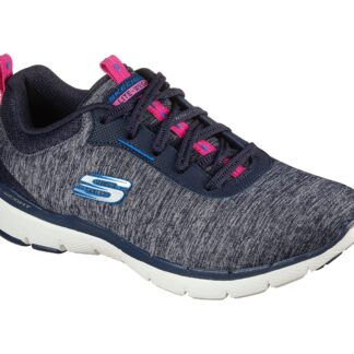 Berwick upon Tweed-Lime Shoe Co-Skechers-149294-Trainers-Navy-prink-blue-laces-comfort