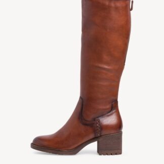 Berwick upon Tweed-Lime Shoe Co-Tamaris-Lather-Tan-Chestnut-knee high boot-winter-autumn-comfort-warm lined
