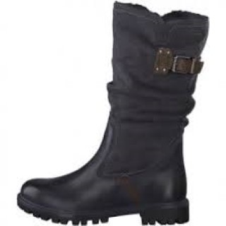 Lime Shoe Co-Berwick upon Tweed-Tamaris-Mid Calf Boot-Navy-Brown-Side Zip-Comfort-Autumn-Winter-2020