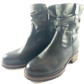 Berwick upon Tweed-Lime Shoe Co-Tamaris-26441-Moss-Green-Comfort-winter-autumn-Side Zip-Leather