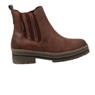 Berwick upon Tweed-Lime Shoe Co-Brown-Marco Tozzi-Vegan-Block Heel-Autumn-Winter