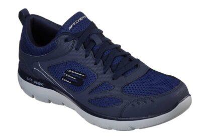 Berwick upon Tweed-Lime Shoe Co-Skechers-Gents-Mens-Navy-Trainers-comfort