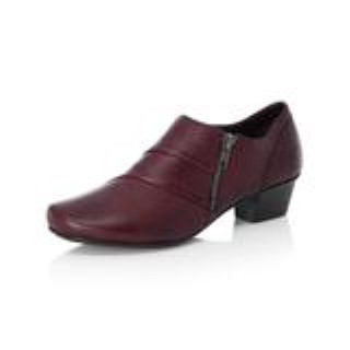 Lime Shoe Co-Berwick upon Tweed-Rieker-Winter-Autumn-2020-Red-Shoe-Leather-Side Zip-Block Heel