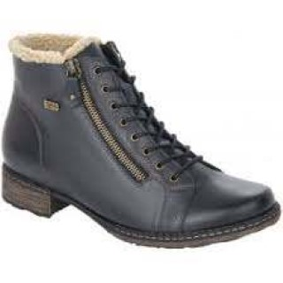 Lime Shoe Co-Berwick upon Tweed-Remonte-Navy-Water Resistant-Side Zip-Leather-Lined-Comfort-Autumn-Winter-2020