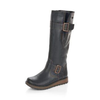 Berwick upon Tweed-Lime Shoe Co-Remonte-Black-Tex-Lambs wool-Flat-Winter-Autumn