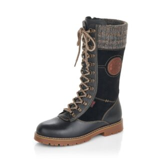 Berwick upon Tweed-Lime Shoe Co-Remonte-Black-Leather-Mid length-Boots-Tex-Winter-Autumn